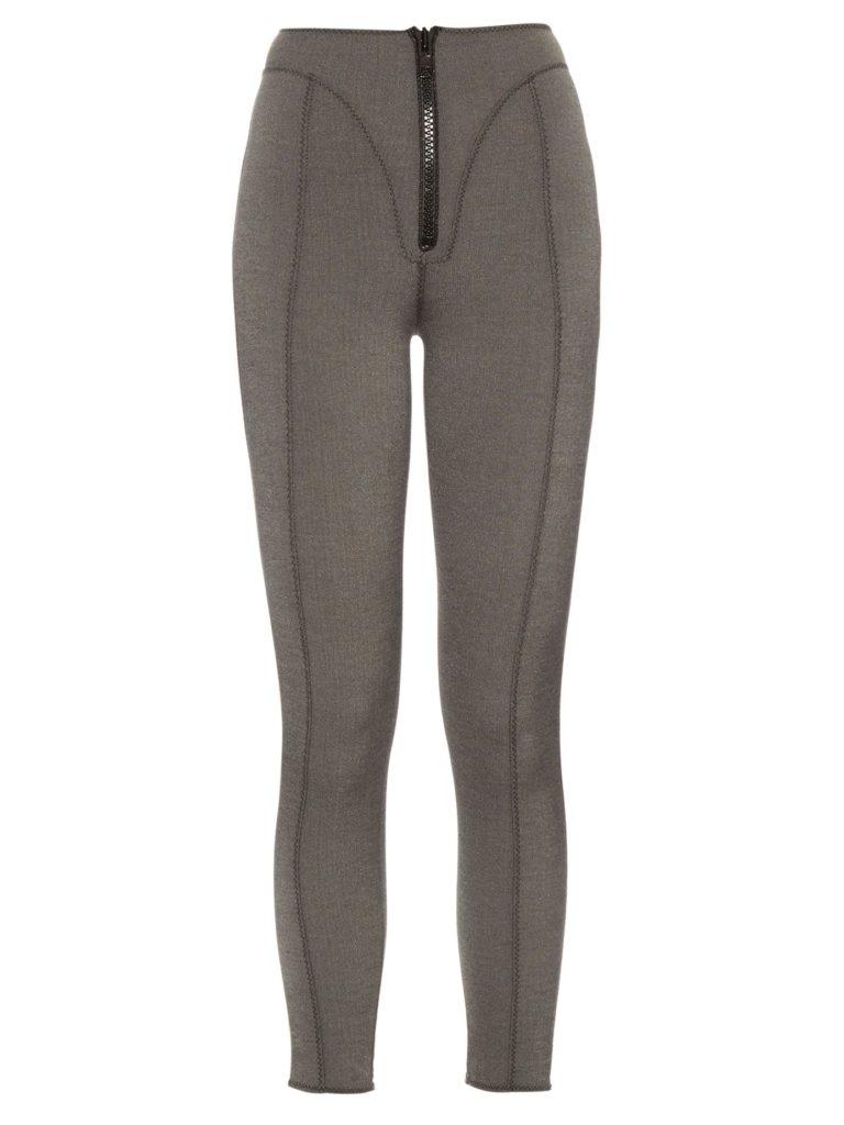 LISA MARIE FERNANDEZ  Yoke zip-front high-waisted leggings