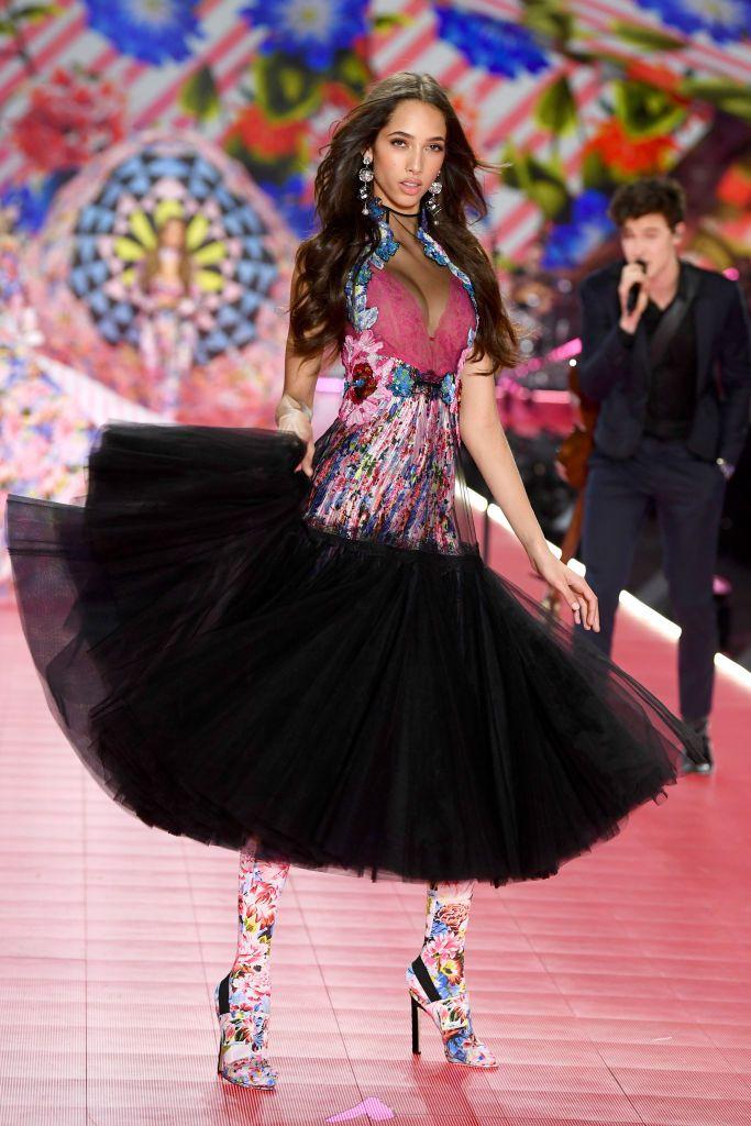 Victoria's Secret Fashion show 2018 - victoria secret - fashion show - victoria secret fashion show - victorias secret fashion show - victoria secret outfits - yasmin-wijnaldum-walks-the-runway-during-the-2018-victorias-news-photo