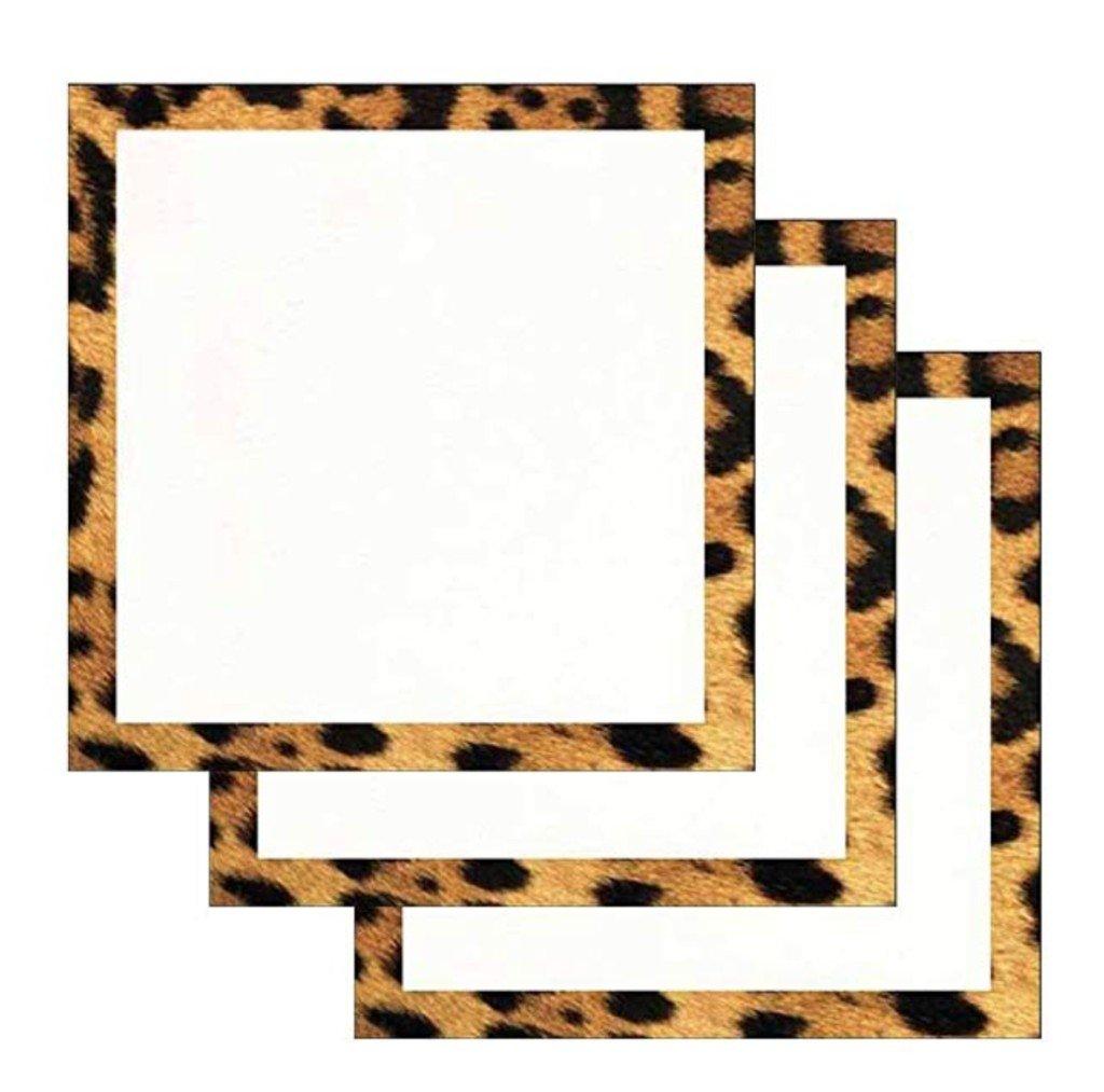 Leopard Print Border Sticky Notes