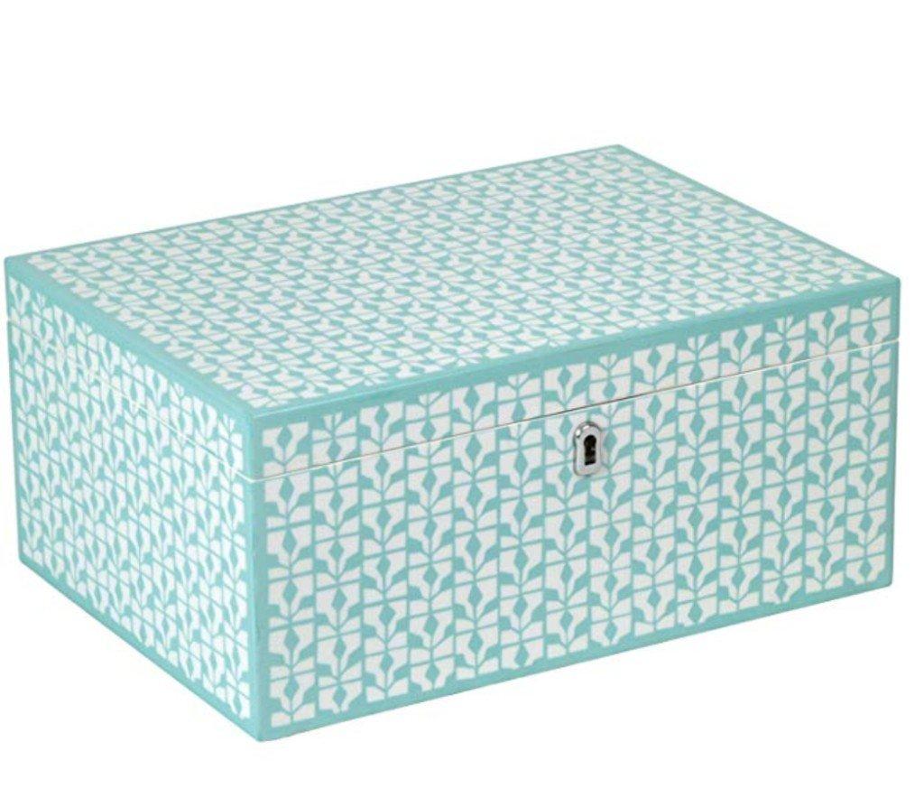 Diva Turquoise Large Jewelry Box