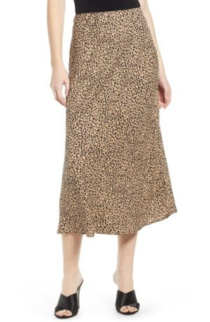 Leopard Midi Skirt LOVE, FIRE
