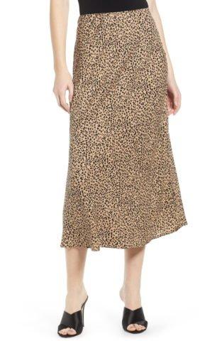 Leopard Midi Skirt LOVE, FIRE