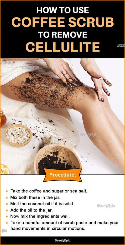 Coffee scrub for body cellulite