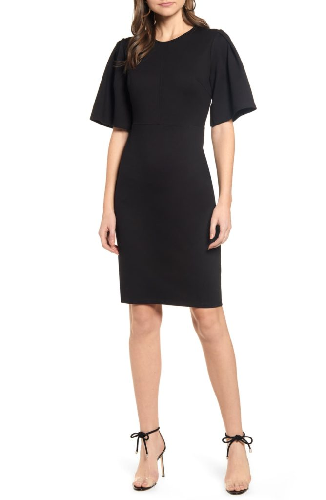 Flutter Sleeve Ponte Dress - RACHEL PARCELL
