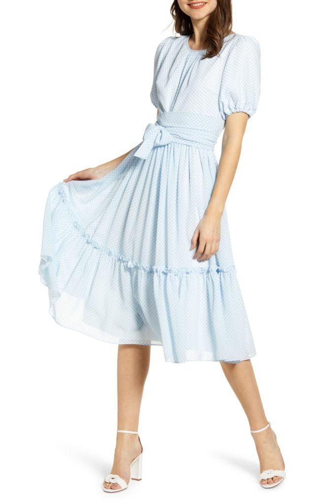 Gingham Puff Sleeve Dress - RACHEL PARCELL