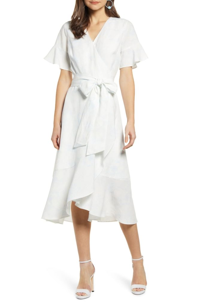 RACHEL PARCELL - Ruffle Wrap Dress