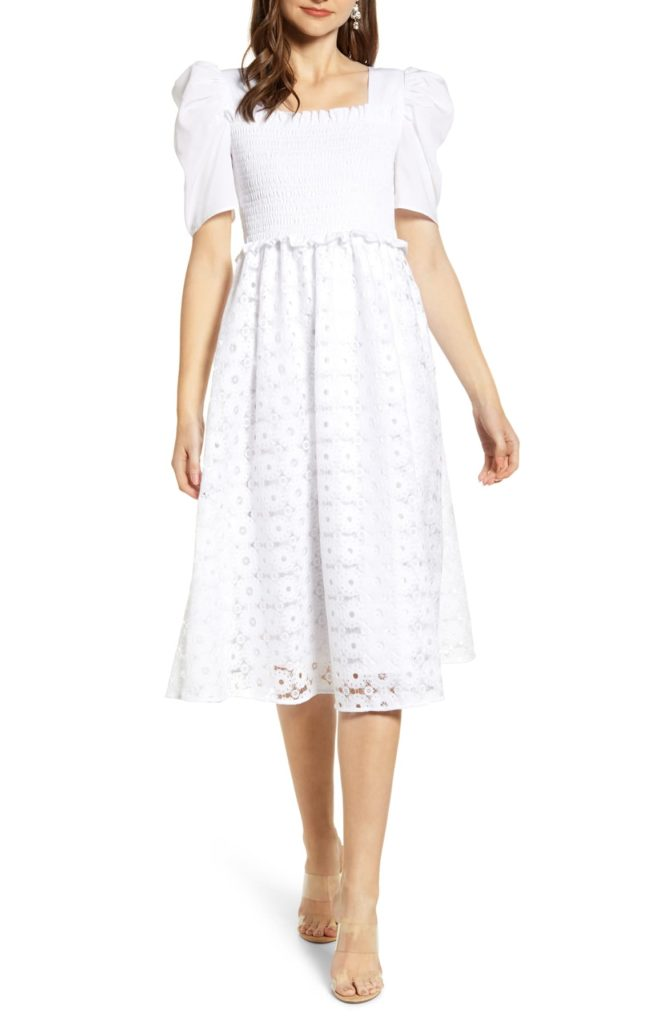 Smocked Waist A-Line Dress - RACHEL PARCELL