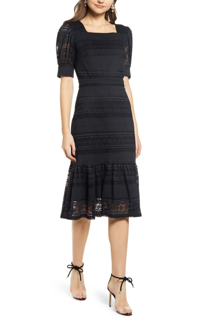 Square Neck Lace Dress - RACHEL PARCELL