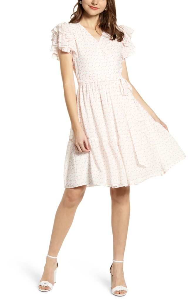 RACHEL PARCELL - Tiered Ruffle Sleeve Dress